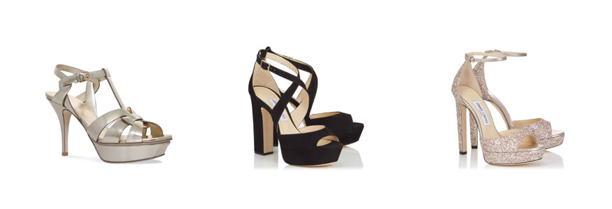 Selection of high-heeled designer heels