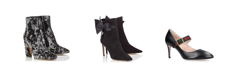 Selection of designer, heeled boots